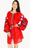 Ladies Long Sleeve Dress Red Riot