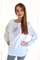 Long Sleeve Ladies Embroidered Blouse White Elegance