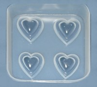 Double Heart Resin Jewellery Moulds    RM 1723