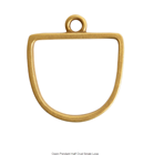 Open Pendant Half Oval Single Loop Antique Gold Packet of 3