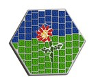 Hexagon Mosaic Plastic Garden Paver Mould 300x40 CM 6013