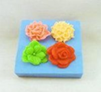 R0391 Soap Silicone Mould - Small Roses (4)