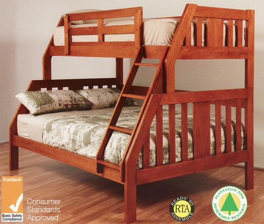 Bunk Bed Double Single Trundle Solid New