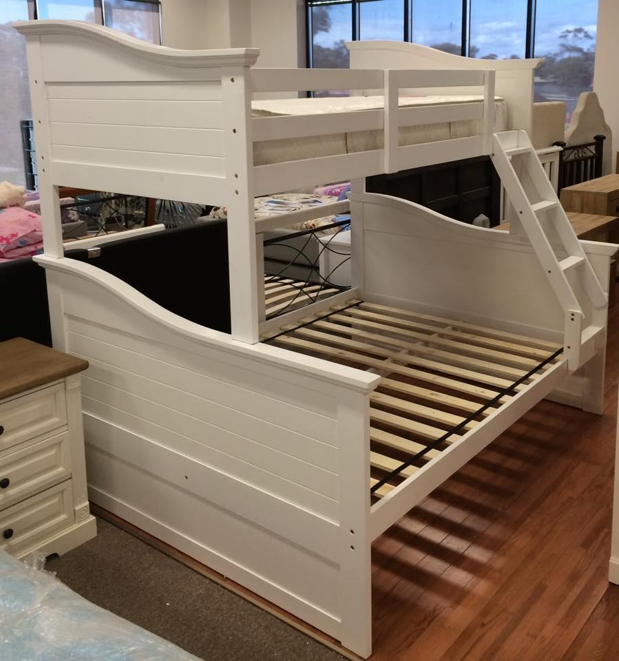 Bunk bed double single solid new style for Single bunk bed