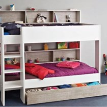 single bunk with storage in head pullout drawer + 2 x mattresses MADE IN FRANCE NEW EURO DESIGN
