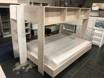 Double single bunk with storage shelf MADE IN FRANCE NEW EURO DESIGN GO GREEN WAY