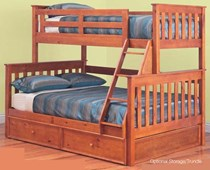 Bunk bed double single + TRUNDLE SOLID NEW