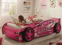 Girls car bed pink NEW DESIGN