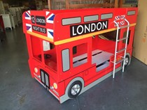London double decker bus bunk single beds