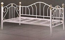 SINGLE Day Bed White NEW Metal