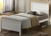 single bed in choc or white  NEW DESIGN -