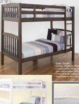 single bunk bed NEW DESIGN SOLID graphite or white  finish GREAT LOOKING BUNK